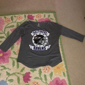 Grey ravens t shirt